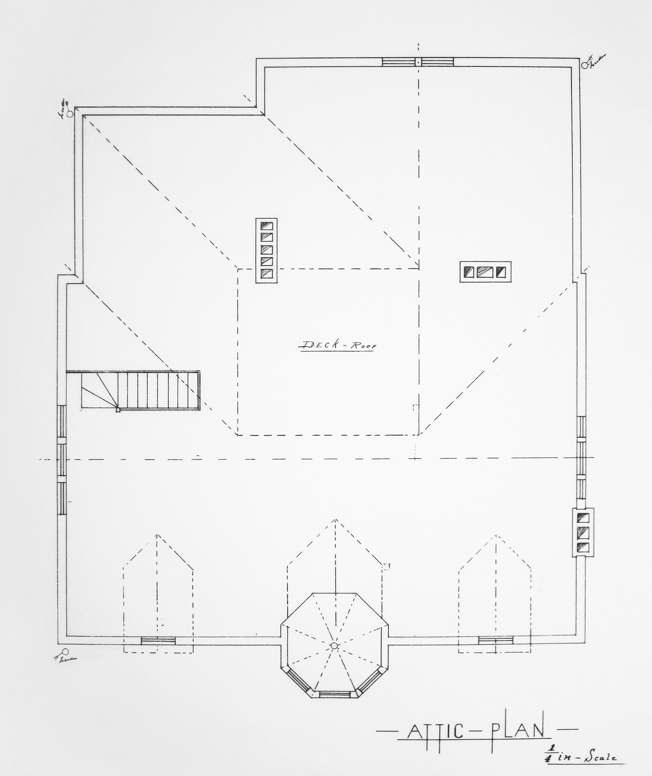 Blueprint of the Hudson House Attic